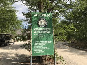 Moremi Game Reserve entry gate